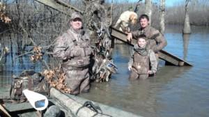 Hunters in Water